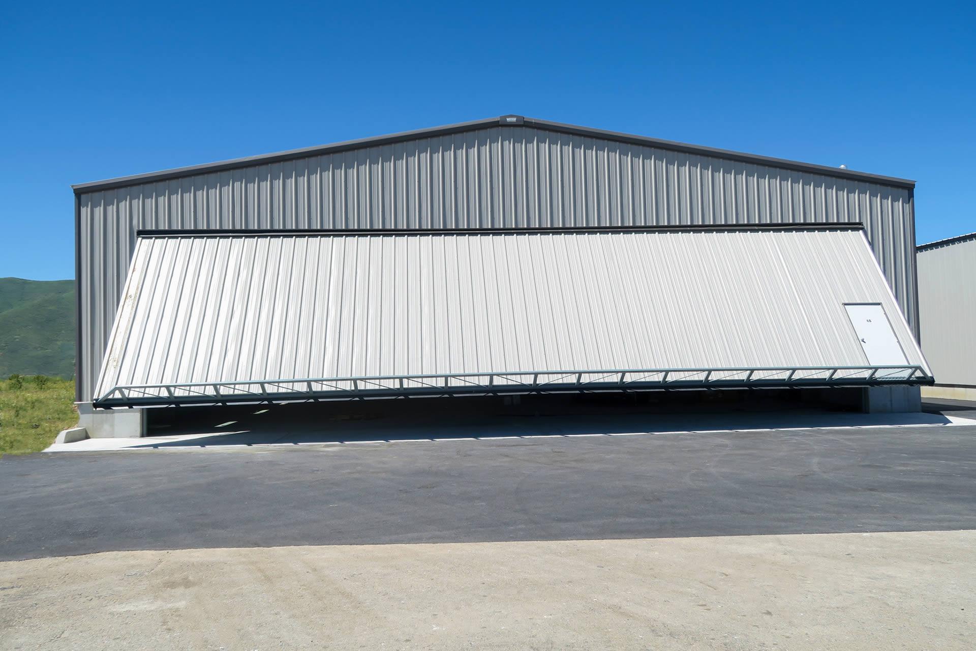 Eight Hangar Doors