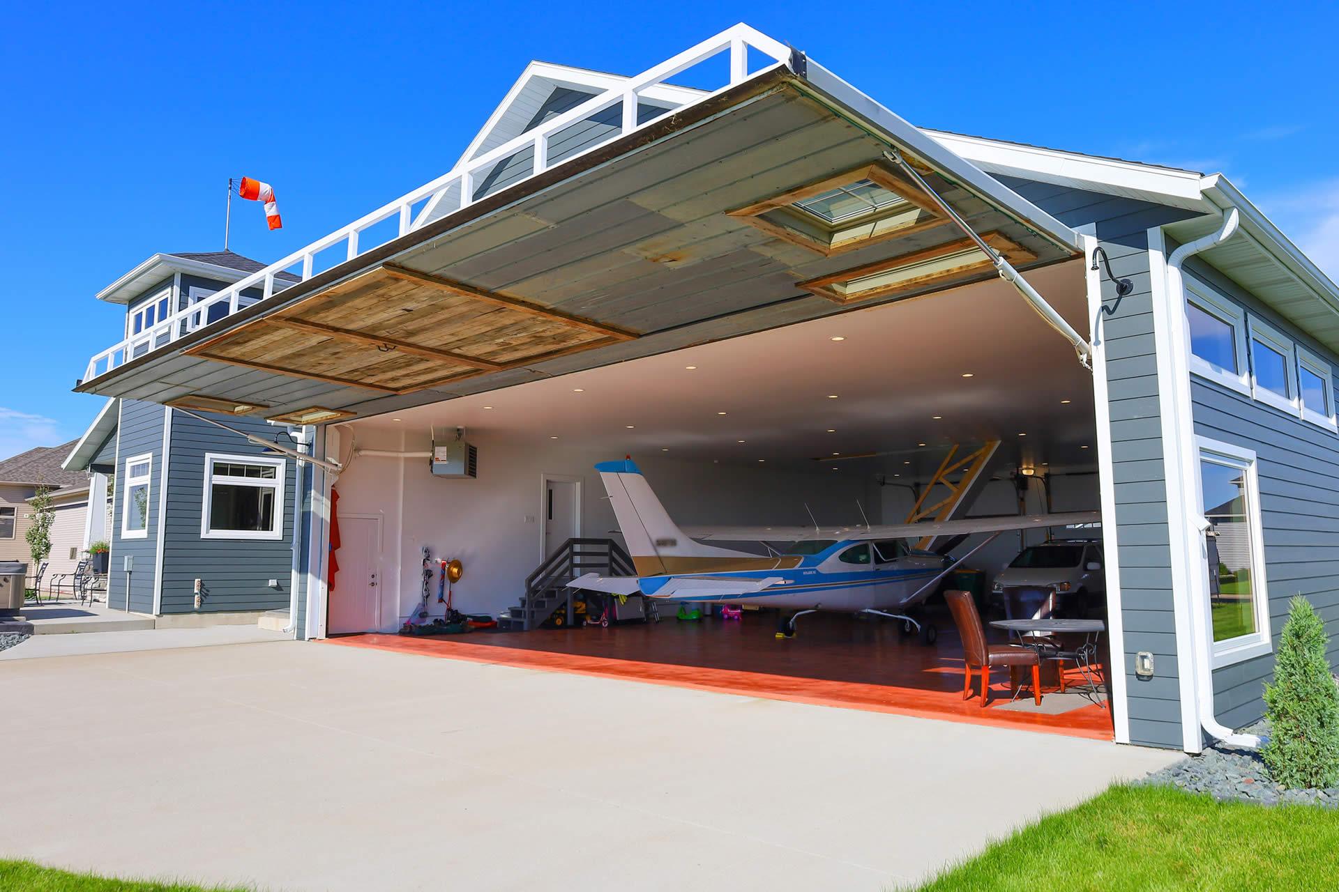 Hangar Home With Antique Trim Elements
