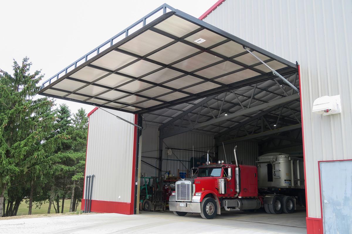 Machinery Storage Translucent Siding
