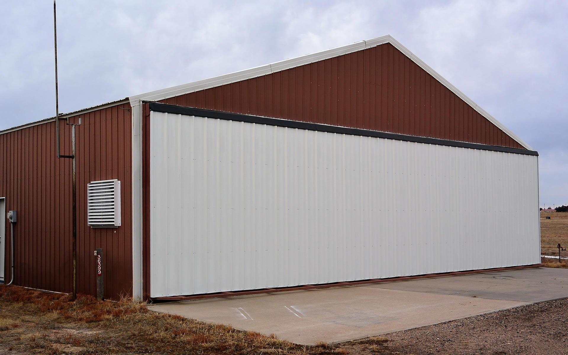 Two Retrofit Hangar Doors