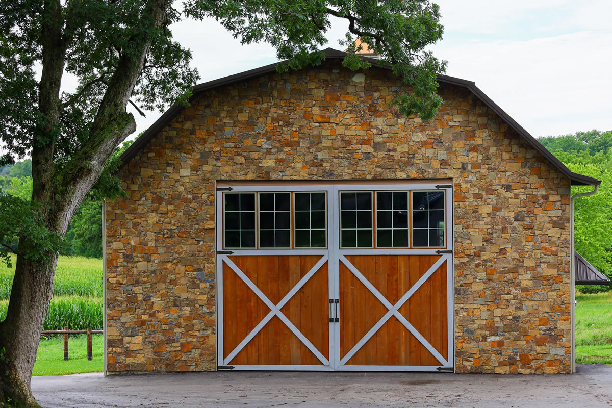 Stone Barn, Classic Wood Door