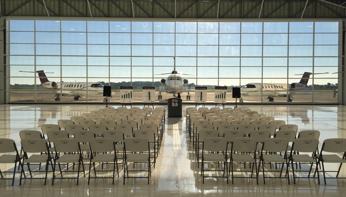 Glass 112′ x 28′ Hangar Door