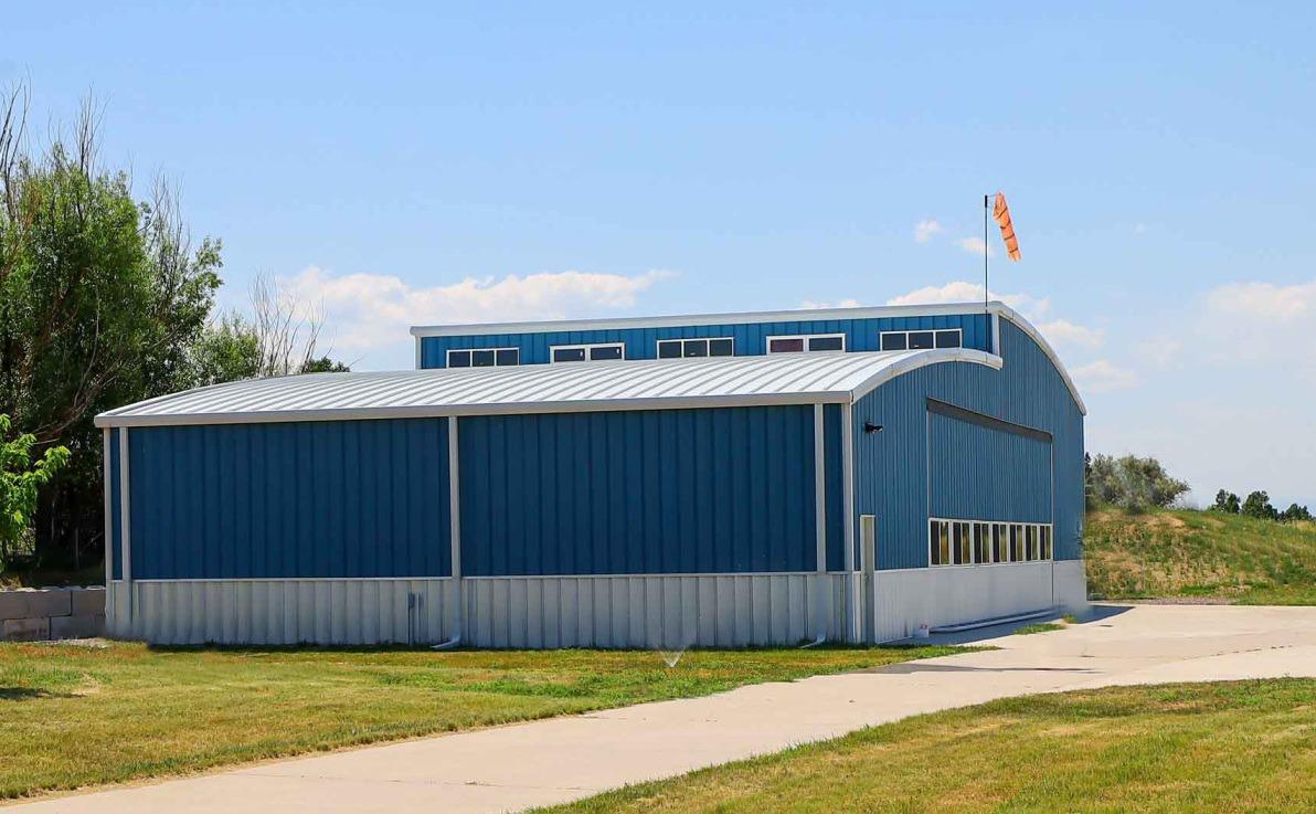 PowerLift Door In New Steel Hangar